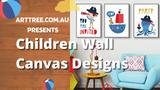 Children Wall Canvas Designs Video