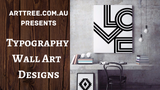 Typography Wall Art Designs Video