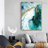 Gilding Nature Landscape Handmade Oil Vignette on Canvas for Wall Decor