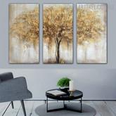 Auburn Tree Heavy Texture Handmade 3 Piece Split Complementary Painting Wall Art Set For Wall Decor