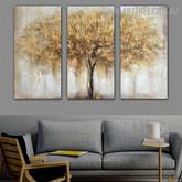 Auburn Tree Heavy Texture Handmade 3 Piece Multi Panel Painting Wall Art Set For Wall Disposition