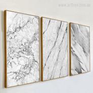 Grey Marble Canvas Art