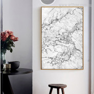 Abstract Grey Marble Canvas Art