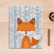Woodland Fox Animal Wall Print