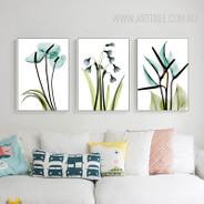 Transparent Bird of Paradise Common Bluebell Arum Lily Botanical Flower Prints