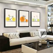 Creatively Lemon Orange Fruit Bike Digital Canvas Prints