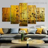 Swim Tadpoles Land Animal Modern Over Size Artwork Photo Canvas Print for Room Wall Garnish