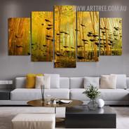 Swim Tadpoles Modern 5 Piece Multi Piece Painting Image Animal Canvas Print for Room Wall Decor