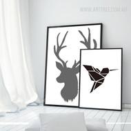 Animal Canvas Prints for Black & White Home Interior