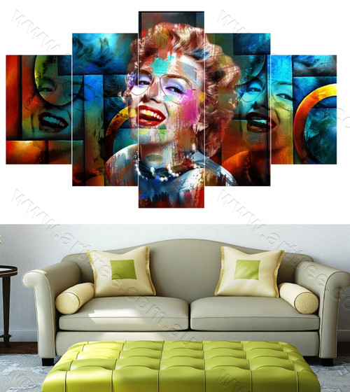 Colorful Marilyn Monroe