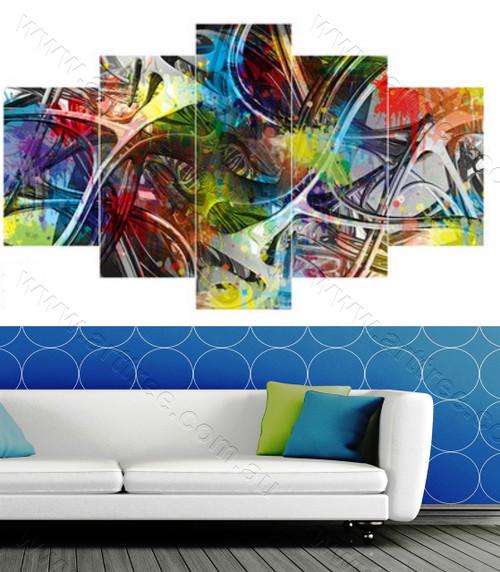Abstract Multicolor Lanes
