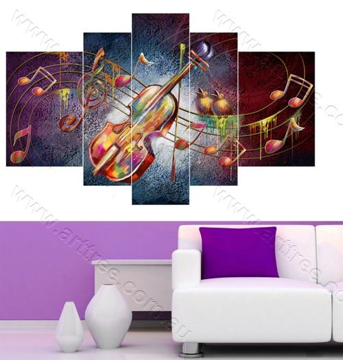 Violin Five piece canvas print