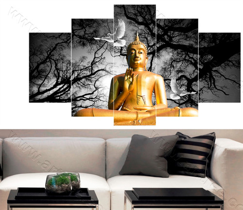 Buddha with Pigeon Bird