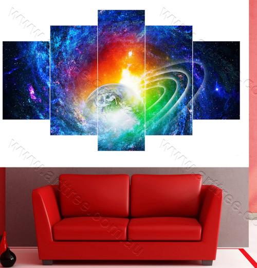 Planet Split Canvas Print