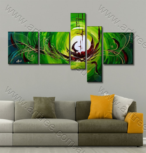Green & Brown Base Group Canvas Artwork