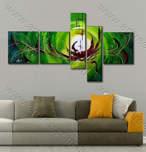 Green & Brown Base Group Canvas Artwork