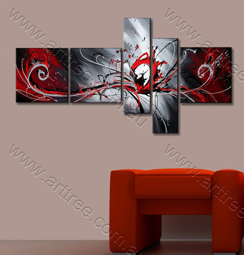 Red, Black & Grey Blend Artwork
