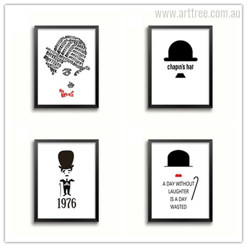 Hollywood Charlie Chaplin Quotes Design