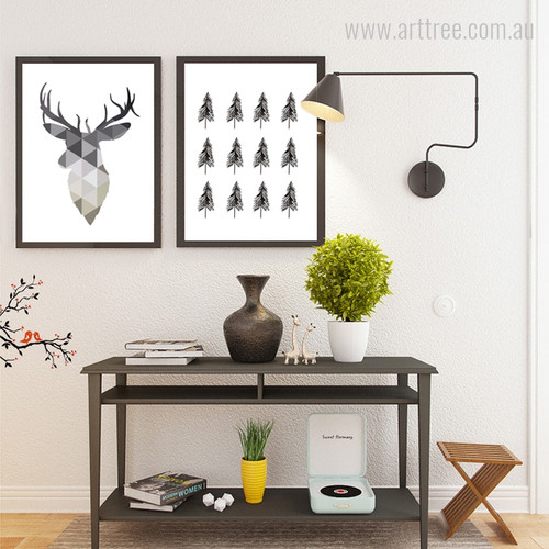 Geometric Deer and Tree