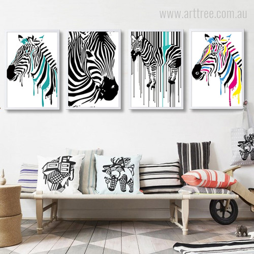 Modern Zebra Animal Print for Living Room