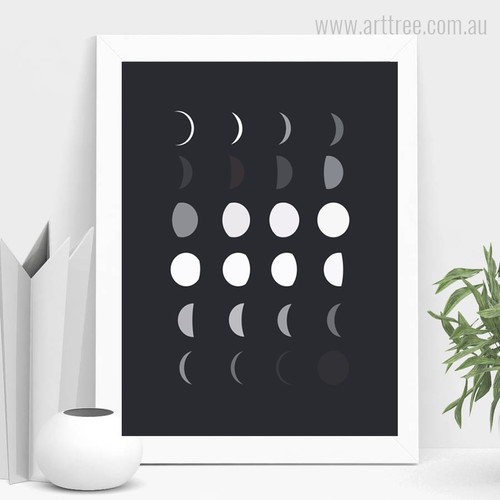 Modern Moon Phase for Kids Room Decor