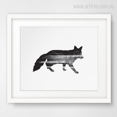 New Abstract Fox Animal Wall Art