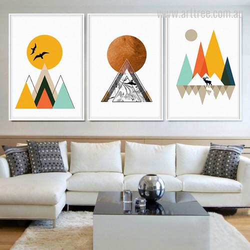 Mountain Peak Sunrise Nordic Canvas Art