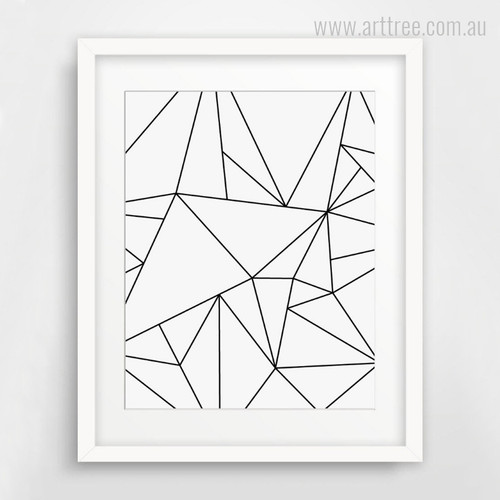 Minimalist Triangle Canvas Wall Art