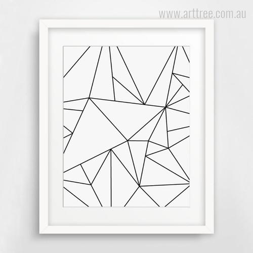 Minimalist Triangle Canvas Wall Art