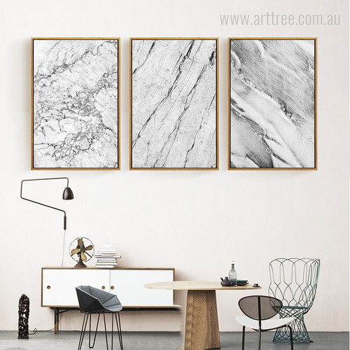 Abstract Grey Marble Canvas Print