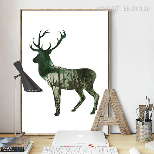 Landscape Green Deer Animal