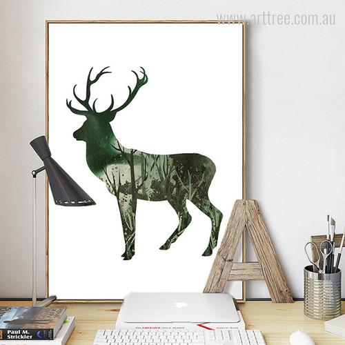 Landscape Green Deer Animal