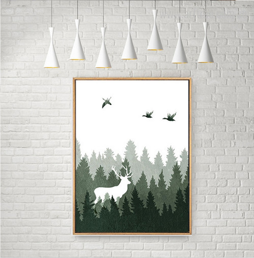 Landscape Forest Deer Animal