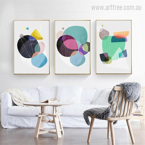 Nordic Geometric Shapes Wall Art