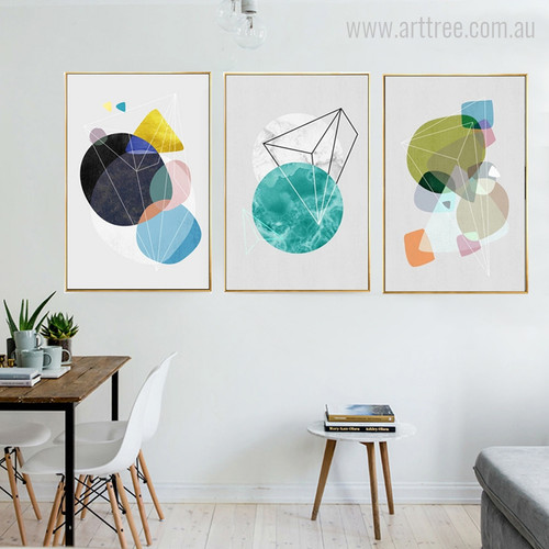 Abstract Geometric Shapes Minimalist Wall Art