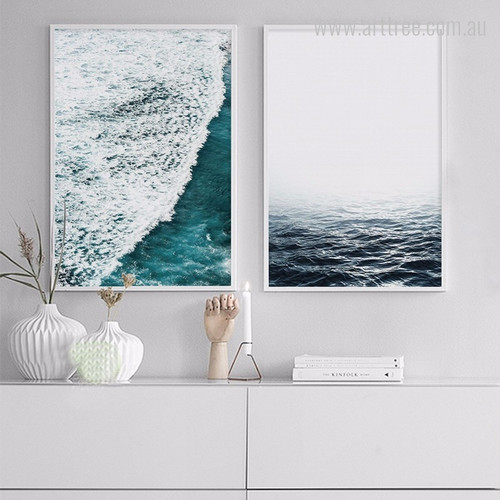 Abstract Seascape Ocean Waves