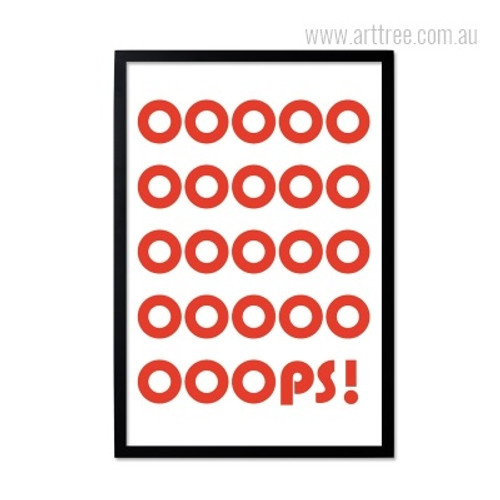 Creative Red OOPS Quote Print