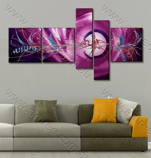 Mauve Art Canvas Painting