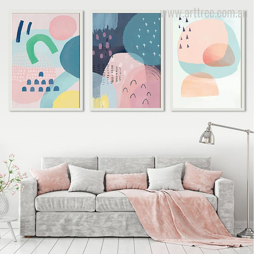 Abstract Multi Pink Princess Design for Nursery Girls