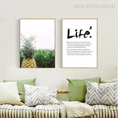Pineapple and Life Inspirational Quote