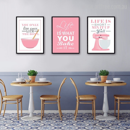 Pink Baking Life Quote