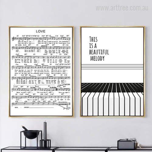 Minimalist Piano Score This is a Beautiful Melody Quote