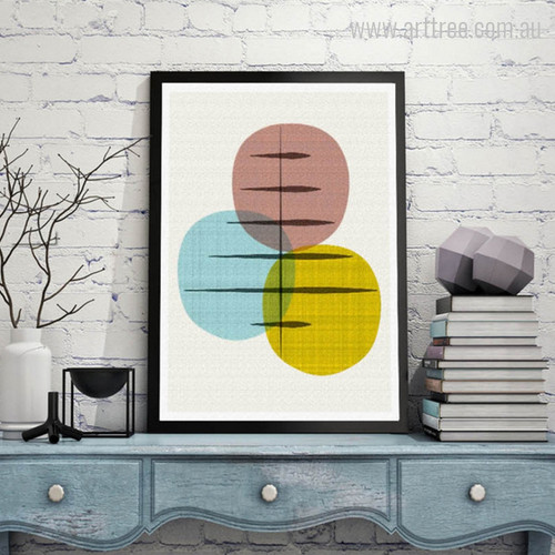 Geometric Union Circles Nordic Canvas Print