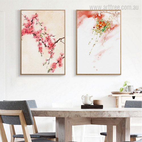 Cherry Blossoms Japanese Mountain Flowers Canvas Print