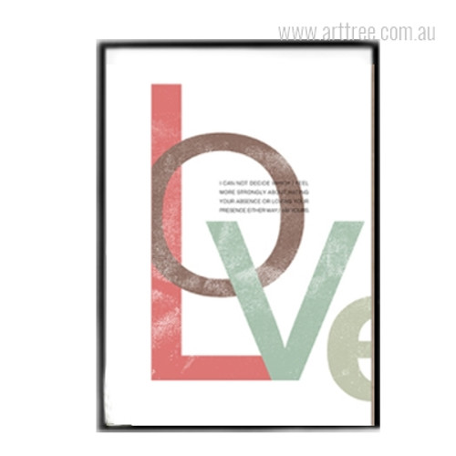 Modern Love Quote Multicolor Canvas Print