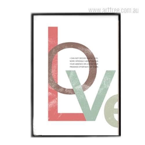 Modern Love Quote Multicolor Canvas Print