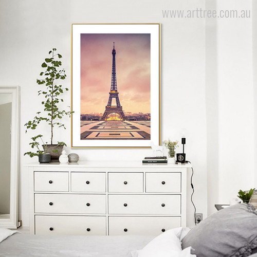Paris City of Light Eiffel Tower Canvas Print