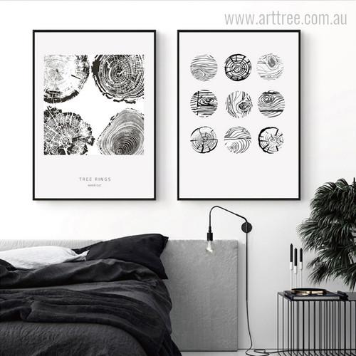 Abstract Tree Rings Wood Cut Digital Art