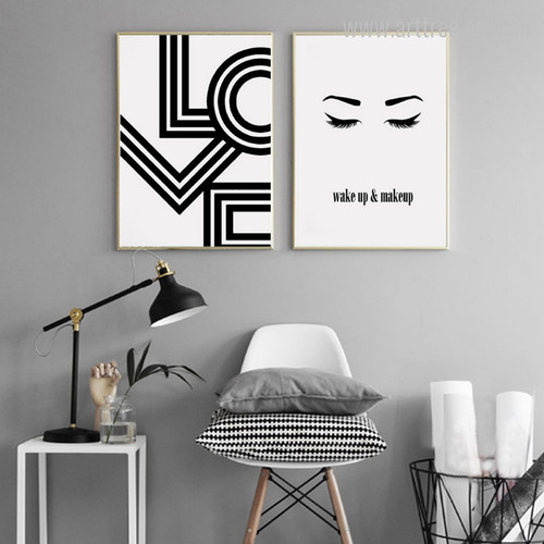 Black and White Love, Wake up & Make up Eyes Design