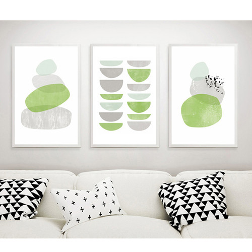 Green Bowl & Rocks Canvas Prints